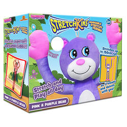 Stretchkins™ Pink & Purple Bear