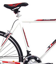 Tiger Olympus Mens Road Race Bike - 56cm Alloy Frame 700c - White 2 Thumbnail