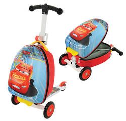 Disney Cars 3 Kids 3-in-1 Folding Scooter with Luggage Case Thumbnail
