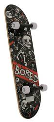 Bored Crazy Beginners Double Kicktail Skateboard - PVC Wheels 2 Thumbnail