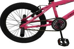 Zombie Sting Junior Girls 360 Gyro Freestyle BMX Bike, Pink - 18