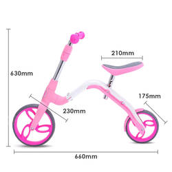 AEST Kids 2-In-1 Convertible Kick Scooter And Balance Bike - Steel Frame B02 2 Thumbnail