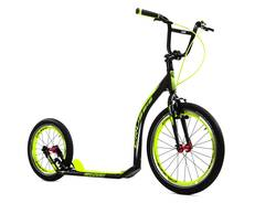 Crussis Active 4.4 Adult Kids Kick Scooter Footbike Black - Alloy, 20