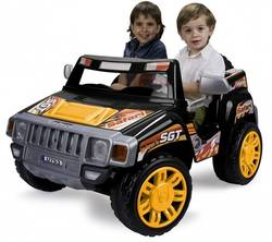 Injusa Safari Kids 2 Seater Electric Jeep Car Pick Up Ride On - Rechargeable, 12V Thumbnail