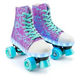Xootz Canvas Roller Skates LED