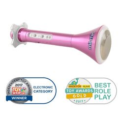 Mi-Mic Karaoke Microphone Speaker with Bluetooth and LED Lights - Pink 4 Thumbnail
