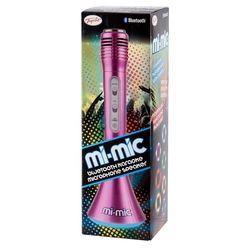 Mi-Mic Karaoke Microphone Speaker with Bluetooth and LED Lights - Pink 3 Thumbnail