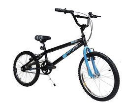 Urban Gorilla Beast Junior Kids Freestyle BMX Bike, Black/Blue - 20