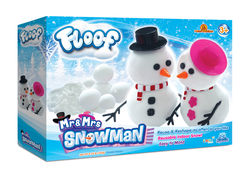 Floof! Mr and Mrs Snowman Box - Fluffy White Reusable Indoor Snow Modelling Clay, 120g  Thumbnail
