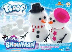Floof! Mr and Mrs Snowman Box - Fluffy White Reusable Indoor Snow Modelling Clay, 120g  1 Thumbnail