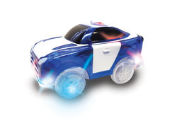 Magic Tracks Kids Light-Up Police Vehicle Toy Car Racing with 5 LED Lights