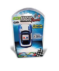 Magic Tracks Kids Light-Up Police Vehicle Toy Car Racing with 5 LED Lights 1 Thumbnail