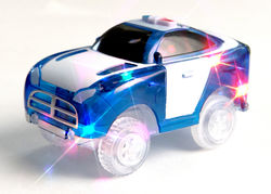 Magic Tracks Kids Light-Up Police Vehicle Toy Car Racing with 5 LED Lights 2 Thumbnail