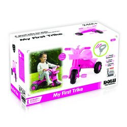 Dolu Toddler Girls My First Trike with Parent Handle, Pink - 2 Years + 2 Thumbnail
