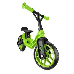 Xootz Toddler Kids Boys Folding Training Balance Bike - Green Thumbnail
