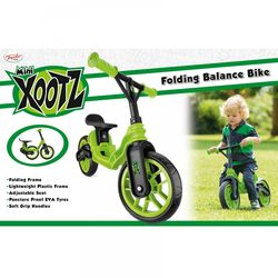 Xootz Toddler Kids Boys Folding Training Balance Bike - Green 2 Thumbnail