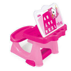 Dolu Unicorn Kids Girls Study Desk Table and Chair Set - Pink 1 Thumbnail