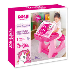 Dolu Unicorn Kids Girls Study Desk Table and Chair Set - Pink 3 Thumbnail