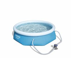 Bestway Fast Set Inflatable Pool with Pump 8ft
