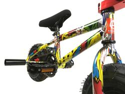 1080 Stunt Freestyle Mini BMX Bike - Ltd Ed Colour Cartoon Graphic 2 Thumbnail