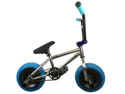 1080 Mini Freestyle BMX - Chrome & Blue Thumbnail
