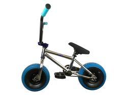 1080 Mini Freestyle BMX - Chrome & Blue 3 Thumbnail