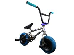 1080 Mini Freestyle BMX - Chrome & Blue 1 Thumbnail