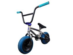 1080 Mini Freestyle BMX - Chrome & Blue 2 Thumbnail