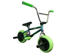 1080 Mini Freestyle BMX - Jet Fuel/Chrome/Green 1 Thumbnail
