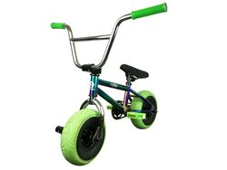 1080 Mini Freestyle BMX - Jet Fuel/Chrome/Green 2 Thumbnail