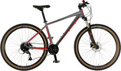 Claud Butler Alpina 650B Mens Alloy Mountain Bike - 27 Speed - Graphite/Red Thumbnail
