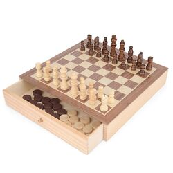 Toyrific 2 In 1 Chess & Draughts Set