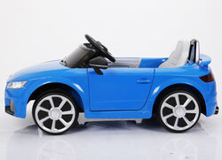 Audi TT RS Licenced Kids 6v Electric Interactive Ride On with Parental Remote - Blue 1 Thumbnail
