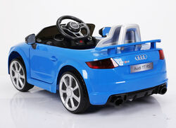 Audi TT RS Licenced Kids 6v Electric Interactive Ride On with Parental Remote - Blue 2 Thumbnail