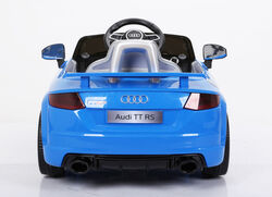 Audi TT RS Licenced Kids 6v Electric Interactive Ride On with Parental Remote - Blue 3 Thumbnail