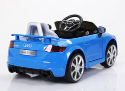 Audi TT RS Licenced Kids 6v Electric Interactive Ride On with Parental Remote - Blue 4 Thumbnail
