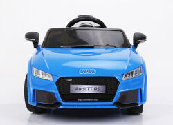 Audi TT RS Licenced Kids 6v Electric Interactive Ride On with Parental Remote - Blue 5 Thumbnail
