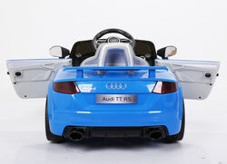 Audi TT RS Licenced Kids 6v Electric Interactive Ride On with Parental Remote - Blue 6 Thumbnail