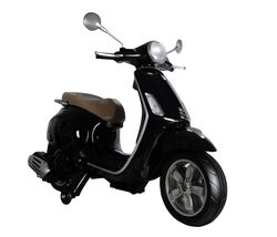 Vespa Primavera Licenced Kids 6v Electric Ride On Retro Moped - Black 1 Thumbnail