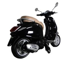 Vespa Primavera Licenced Kids 6v Electric Ride On Retro Moped - Black 2 Thumbnail
