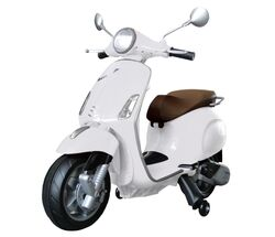 Vespa Primavera Licenced Kids 6v Electric Ride On Retro Moped - White - 3-7yrs 1 Thumbnail