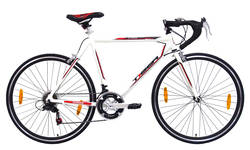 Tiger Olympus Mens Road Race Bike - 56cm Alloy Frame 700c - White Thumbnail