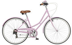 Claud Butler Cambridge Plush Ladies Heritage Bike - Pink - 700c Thumbnail