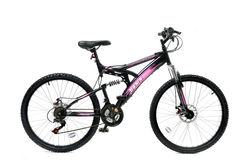 Basis 1 FS Mountain Bike Black Pink