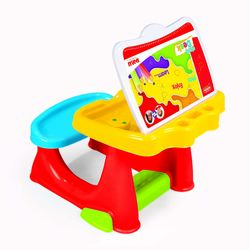 Dolu Toddler Kids Study Desk Table with Bench, Multicolour - 3 Years+ Thumbnail