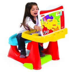 Dolu Toddler Kids Study Desk Table with Bench, Multicolour - 3 Years+ 2 Thumbnail
