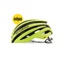 Giro Cinder MIPS Road Bike Helmet, 26 Wind Tunnel Vents - Matt Highlight Yellow Thumbnail