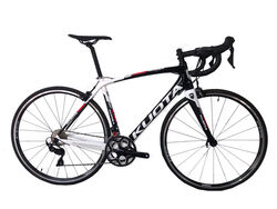 Kuota Korsa Mens Full Carbon Road Bike, 22 Speed, Tektro  Brakes - Black, White, Red Thumbnail