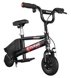 Razor E-Punk Kids Electric Microbike Ride On - Black Thumbnail