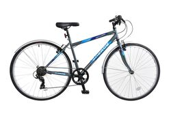 Natural Energy Mens Crossbar Trekking Bicycle, 700c, 6 Speed - Grey Thumbnail